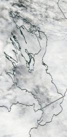 Спутниковый снимок Онежского озера 2021-10-09