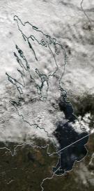 Спутниковый снимок Онежского озера 2021-10-11