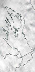Спутниковый снимок Онежского озера 2021-10-13